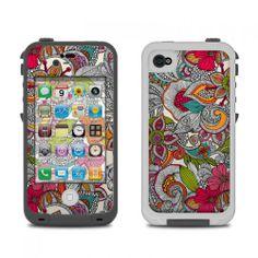 Doodles Color LifeProof iPhone 4 Skin