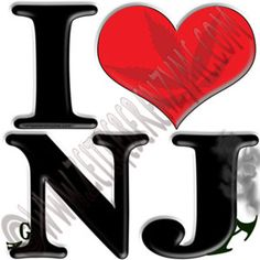 "Help make New Jersey greener. Up close ""I [heart] NJ"" actually reads ""I love ga-NJ-a"". http://www.cafepress.com/thenaughtynook/10413387"