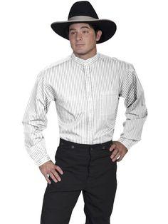 Men/'s Scully Rangewear Matching Tombstone Collar Stud Western Cowboy Shirt Black