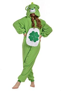 Introducing Newcosplay Polar Fleece Unisex Gloomy Bear Pajamas XL Green Bear. Get Your Ladies Products Here and follow us for more updates!