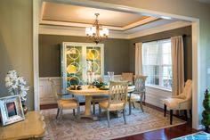 Dining room with tray ceiling #Lancasternewhomes