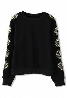 Am thinking this could be diy-ed by using a plain black top and applying the bleach pen design technique to the sleeves