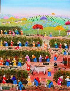VALQUIRIA BARROS TEMA CANAVIAL A VENDA COM AJUR SP - Painting,  40x50 cm ©2012 by Arte Naif -                            Naive Art, ARTE NAIF