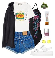"""""""Summer is here ! w/ Rosegal"""" by patricia-pfa ❤ liked on Polyvore featuring Gucci, STELLA McCARTNEY, Ray-Ban, H&M, Bite, acwell and Diane James"""