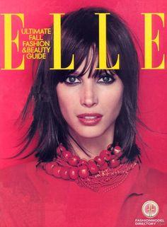 Christy Turlington - Elle US September 2000 Fashion Magazine Cover, Fashion Cover, Magazine Covers, Elle Fashion, Fashion Beauty, Original Supermodels, Beauty Guide, Christy Turlington, Elle Magazine