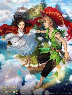 Artist: Woochul Lee aka atomiiii - Title: peter pan - Card: Neverland Guide Peter Pan (Blithe)