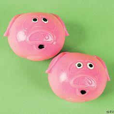 Squishy Splatting Pig Toy Balls (1 dz)
