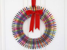 it is colorful and it is a much different kind of wreath