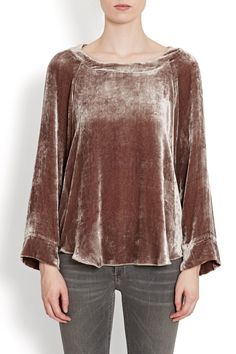 Dusky Pink Velvet Tunic Top from the Iris own brand collection, Tunic style with a loosely draped shape which gives it a flattering silhouette.