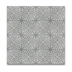 "Argana 8"" x 8"" Cement Field Tile in Gray and White"