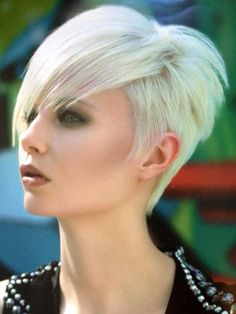 Nice & short on the side & super platinum blonde!