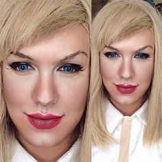 Pin for Later: He Did It Again! A Man Transforms Into Caitlyn Jenner With Makeup Taylor Swift Source: Instagram user pochoy_29