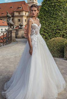 99bc47797a3d helena kolan 2019 bridal sleeveless thin strap sweetheart neckline bustier  heavily embellished bodice romantic a line
