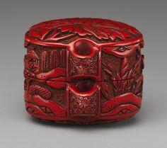 Inrô: Figures in a landscaped garden [Japanese] (10.211.2081) | Heilbrunn Timeline of Art History | The Metropolitan Museum of Art