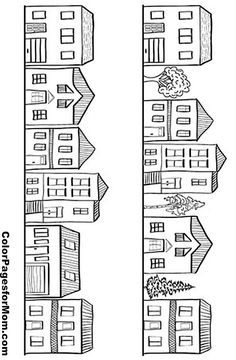 FREE COLOURING POSTER: Tiny Town | Pinterest | Adult coloring, Lisa ...