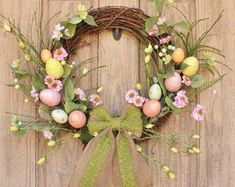 Spring Easter Wreath, Front Door Wreath, Rustic Easter Decorations, Large Easter Wreath, Front Porch Decorations, Easter Home Decor