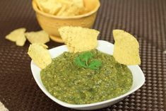 Verde Salsa With Tomatillos, Chile Peppers And Garlic by Rockin Robin