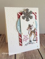 Sorority Sketch Challenge #8 - Vintage Christmas card featuring the Home for the Holidays collection from Stampin' Up! by Kristin Kortonick