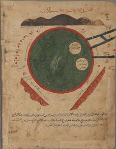 'Kitāb Gharāʾib al-funūn wa-mulaḥ al-ʿuyūn'  (The Book of Curiosities of the Sciences and Marvels for the Eyes)  Caspian Sea Map