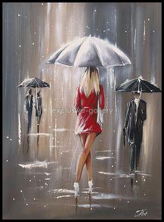 photo du tableau Tableau n° 6317 Umbrella Art, Portrait Art, Fractal Art, Rain Art, Acrylic Art, Art Drawings, Artist Art, Beautiful Paintings, Flower Art