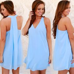 Where will you wear this adorable dress this spring? Tag your bestie Pleat Back Tank Dress Light Blue ($29.99 #sophieandtrey) Stores are open today from 10-8p! Come shop with us or check out what's new online at sophieandtrey.com with F R E E shipping on all orders! XO #dress #spring #powderblue #womenswear #ootd #freeshipping #onlineboutique