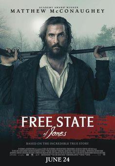 Cartel de Los hombres libres de Jones (Free state of Jones, Gary Ross, 2016, EE.UU.)