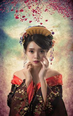 Japan traditional geisha