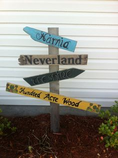 Recycled Wood Outside Garden Sign