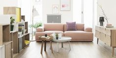 The Connect Lounge Sofa is a stunning piece of contemporary furniture created by Anderssen & Voll for the Muuto label. In the classic Muuto tradition, Pale Dogwood, Rosa Sofa, Living Room Designs, Living Room Decor, Living Rooms, Modul Sofa, Decoracion Vintage Chic, Deco Rose, Pink Sofa