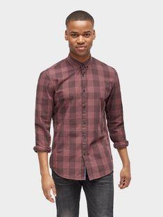 Tom Tailor Denim Hemd »gemustertes Hemd« für 35,99€. Gemustertes Hemd, Aus Popeline, Mit ganzflächigem Muster, Mit Logo-Badge vorne am Saum bei OTTO