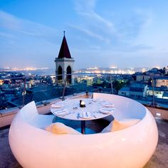 What a view ... the 360 Istanbul restaurant in Istanbul, Turkey