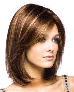 Shoulder length womens hairstyles - New Hair Styles ideas Medium Hair Cuts, Medium Cut, Medium Brown, Medium Long, Pretty Hairstyles, Medium Hairstyles, Trending Hairstyles, Short Haircuts, Hairstyles 2018