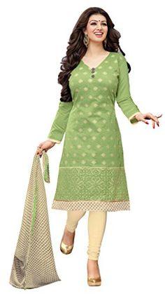 Khazanakart Exclusive Chanderi Fabric Designer Dress Mate...…
