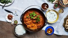 For this chicken tikka masala recipe, the yogurt helps tenderize the chicken; the garlic, ginger, and spices in the marinade infuse it with lots of flavor.