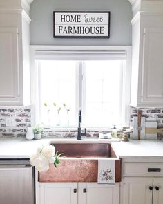 "11.4k Likes, 166 Comments - Better Homes & Gardens (@betterhomesandgardens) on Instagram: ""@farmhousechic4sure has just helped us realized our ultimate kitchen dreams... a copper…"""