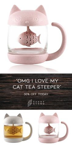 Cute Cat Tea Steeper - Off (Today) Source by stellahaesemeyer videos wallpaper cat cat memes cat videos cat memes cat quotes cats cats pictures cats videos Cool Gifts, Diy Gifts, Unique Gifts, Ikea Pax, Gerbil, Cute Mugs, Crazy Cat Lady, Cool Gadgets, Tricks