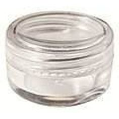 JOVANA 25pcs New Empty Clear Plastic Cosmetic Containers 3 Gram Size Pot Jars Eye Shadow Container Lot Size:Diameter: 31 mm/1.2 inch Height: 16.5 mm/0.6 inch.
