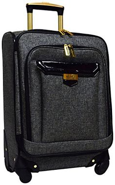 Carry-on Luggage Collections | Nicole Miller Jardin 20 Expandable Spinner Black -- Find out more about the great product at the image link.(It is Amazon affiliate link) #commentbelow