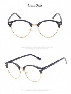 f739197451114 Brand Unisex Fashion Vintage Round Eyeglasses Metal Temples Frame For  Eyewear Women Myopia Eye Glasses Frame Men Optical Glasses Like if you  remember Get it ...