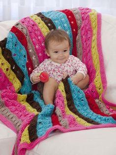 Modern Lovey Baby Afghan | FaveCrafts.com