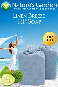 Free Linen Breeze Hot Process Soap Recipe by Natures Garden