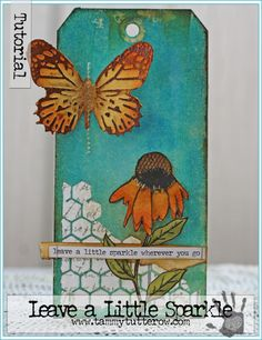 Leave a little Sparkle Art Tag by Tammy Tutterow | www.tammytutterow.com