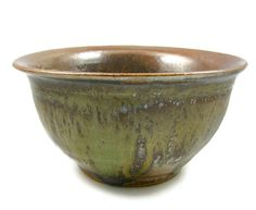 Faceted Clay Bowl  Handmade Wheel Thrown Ceramic by PatsPottery,