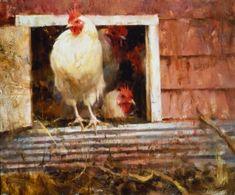 "Artist Quang Ho (Vietnamese-American: 1963) | ""Chickens"" - Originals - All Artwork - Quang Ho | Fine Art World"