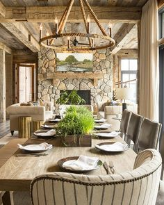 """101 Likes, 5 Comments - Home Bunch (@homebunch) on Instagram: """"Rustic #interior done right! I am loving the textures found in this space. It feels balanced and…"""""""