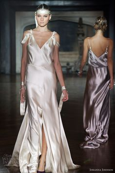 johanna johnson wedding dresses spring 2014 bridal satin gown
