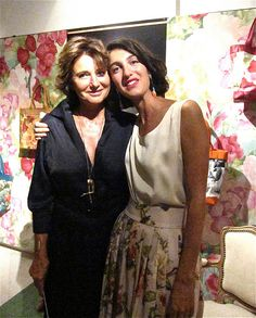 Marta Ferri  and her mom ( interior designer Barbara Frua  ) - Milan