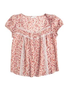 Ditsy Inset Lace Top  Item#: 303947  Price: $34.50   Color: Blush