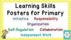 Posters appropriate for Primary that match the Ontario Learning Skills. Education Jobs, Character Education, Higher Education, Skills To Learn, Learning Skills, First Day Of School, Back To School, Ontario Curriculum, Board Result