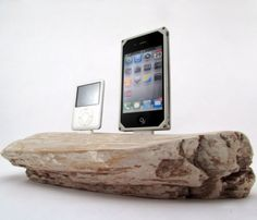 driftwood iPhone dock- thinking about Rosemary's sailboats